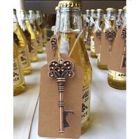 50×Skeleton Bottle Opener +Tags Wedding Souvenirs Gifts for Guests Party Supply