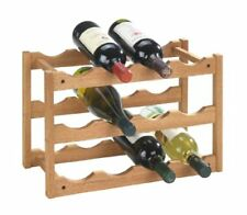 """Wenko 18615100 Scaffale Portabottiglie """"norway"""" per 12 Bottiglie in noce 42 x"""