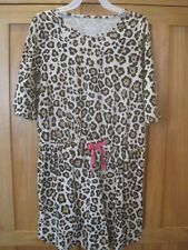 Girl  BLACK TAN LEOPARD OR CHEETAH SPOTS PRINT DRESS NWT 10 12