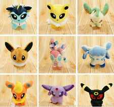 "Set of 9 New Pokemon Evolution of Eevee Plush doll Toy Eeveelution 5"" Kids Gfit"