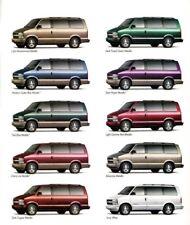 1998 Chevy ASTRO VAN Brochure / Catalog w/ Color Chart: LS,LT,AWD,AstroVan..NOS!