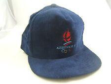 Vintage Albertville 92 Olympics Hat Dark Blue Corduroy Snapback Baseball Cap