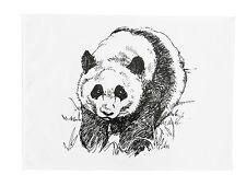 BLACK AND WHITE PANDA-Grande Asciugamano di cotone
