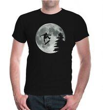 Herren Unisex Kurzarm T-Shirt Moon-Jump-Skateboarding Skateboard Mond freestyle