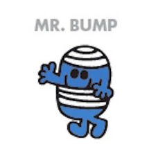 MR MEN AND LITTLE MISS GREETING CARD: MR BUMP - NEW IN CELLO POST DAILY
