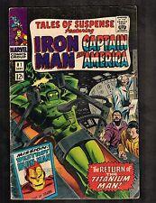Tales of Suspense #81 ~ Cap America & Iron Man/ Titanium Man ~ 1966 (5.0) Wh