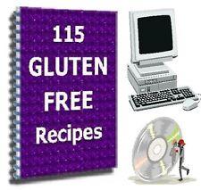 115 Gluten Free + 500 Diabetic Recipes ~ 2 Books on CD