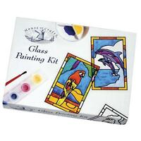 House Of Crafts Glass Painting Starter Kit Complete Paint Craft Set Gift MK008