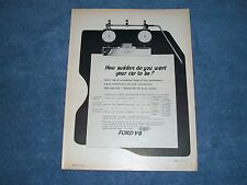 """1962 Ford Galaxie 406 390 Vintage Ad """"How Sudden Do You Want To be?"""""""