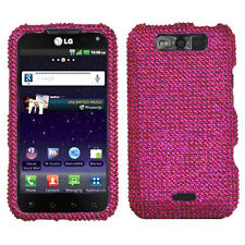 For Sprint LG Viper 4G Crystal Diamond BLING Hard Case Phone Cover Hot Pink