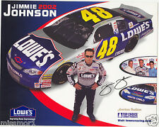 Jimmie Johnson 2002 NASCAR Lowes auto racing picture #48