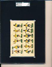 1968 Brazilian team postcard PELE Garrincha Gerson SGC 35 = PSA 2.5 Nice!