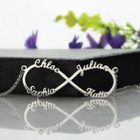 Halskette mit Gravur 925er Sterlingsilber Namenskette unendlichkeit Infinity