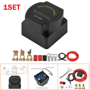 Smart Dual Battery Isolator Voltage Sensitive Relay Kit For Ships Yachts SUVs