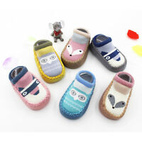 Baby Boys Girls Infant Soft Sole Anti-Slip Socks Crib Shoes Walking Shoes Casual