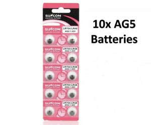 AG5 LR754 LR48 ALKALINE BUTTON COIN CELL WATCH BATTERIES SUNCOM Battery Genuine