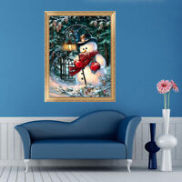 5D Diamond Painting Christmas Snowman Embroidery DIY Decor Stitch Xmas Q7W4