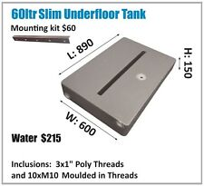 60LTR SLIM WATER TANK. UNDERMOUNT. AUSSIE MADE. ASK FOR FREIGHT PRICE.