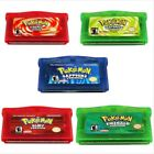Pokemon Game Card Child Gift Advance for Nintendo NDS/NDSL/GBC/GBM/GBA/SP