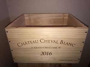 Wine Box Case Crate 6/750ml Chateau Cheval Blanc 2016  Bordeaux