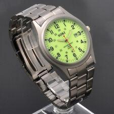 SOKI Luminous For Night Military Mens Date Quartz Steel Band Wrist Watch
