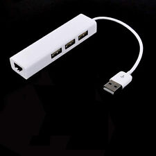 3HUB USB 2.0 to Rj45 Fast LAN Ethernet Adapter For MacBook Air Pro Laptop NEW