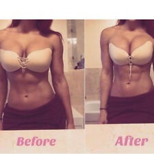 A B C D E F Cup Adhesive Stick On Push Up Gel Strapless Backless Silicone Bra
