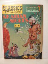 """Classics Illustrated #8, """" Arabian Nights"""" HRN 78"""