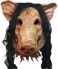 Latex Halloween Pig Mask Full Face Masquerade Decoration Masks With Hair