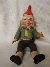 Vintage Irish Leprechaun Crolly Doll Ireland Celtic Gnome Jointed Original Dress