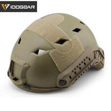 Casco rápido tipo de BJ idogear Tacitcal Airsoft Headwear con carril de lado Camo Militar