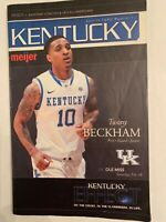 2011-12 handout-type college basketball program (Ole Miss at Kentucky; Cats won