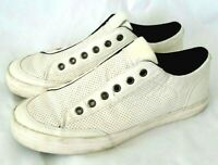Guess Mens Mitt 2 Sneakers White Low Top Perforated Slip Ons GMMITT2 8.5