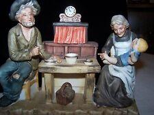 Vintage Porcelain Figurine: Grandparents W/ Their Grandson
