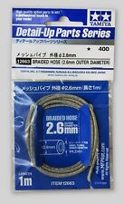 2.6mm STAINLESS BRAIDED HOSE - Tamiya Detail-Up Part #12663 - FREE SHIP
