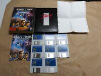"STAR TREK 25TH ANNIVERSARY VINTAGE PC GAME BIG BOX IBM TANDY 3.5"" Disks COMPLETE"