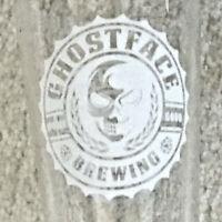 """Ghostface Face Brewing """"Spooky Good"""" Pint Beer Glass (Mooresville, NC) - VGUC"""