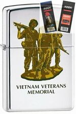 Zippo 250 vietnam vets memorial Lighter with *FLINT & WICK GIFT SET*