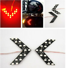 2X Red Arrow Indicator 14SMD LED Car Side Mirror Turn Signal Light For Dodge GMC