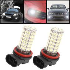 2PCS Super bright H8 120-SMD Fog/Driving Car Head light DRL LED Bulbs 6500K 12V