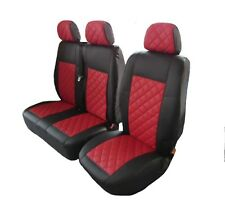 FORD TRANSIT MK7 2006-2012 RHD or LHD  RED ECO LEATHER Seat Covers 2+1