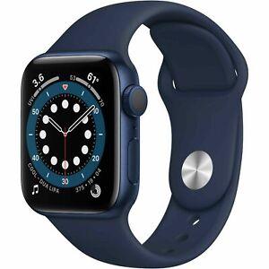 Apple Watch Series 6 Blue Aluminum Deep Navy Sport Band 44MM Model A2292 NEW