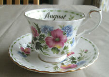 ROYAL ALBERT  FLOWER OF THE MONTH AUGUST POPPY  TEA  CUP AND SAUCER
