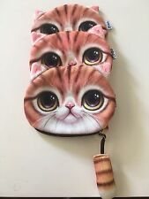 Women's kawaii purses- Cat Coin Purse With Tail Yellow
