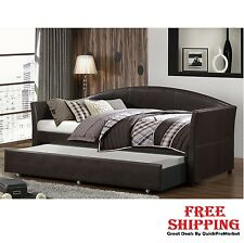Daybed with Trundle Upholstered Tufted Day Bed Sofa Seat Couch Home Furniture