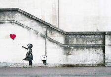 Banksy Red Balloon Girl Painting Repro Canvas Print Wall Art Home Decor Framed