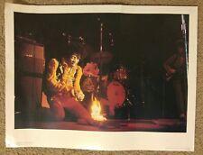 Jimi Hendrix Monterey vintage Jim Marshall Poster Rare squirting lighter fluid