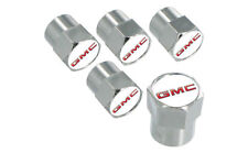 GMC Logo Valve Stem Caps - Set of 5 Chrome ABS Tire Air Valve Stem Covers