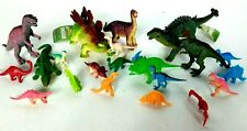 Dinosaur Lot of 22 Figurine Small Large Prehistoric Figures Toy Lot Rubber