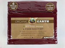Organic Earth Aloe Vera Bamboo 2000 Series 6 Piece Sheet Set King New